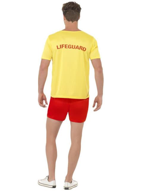 Disfraz de vigilante de la playa para hombre