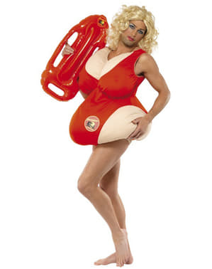 Female Lifeguard Costume For Men - Baywatch