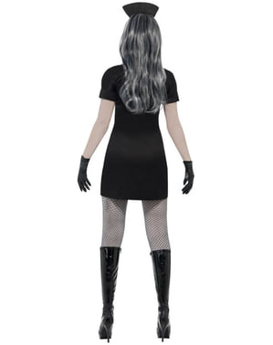 Zombie Krankenschwester Kostüm schwarz
