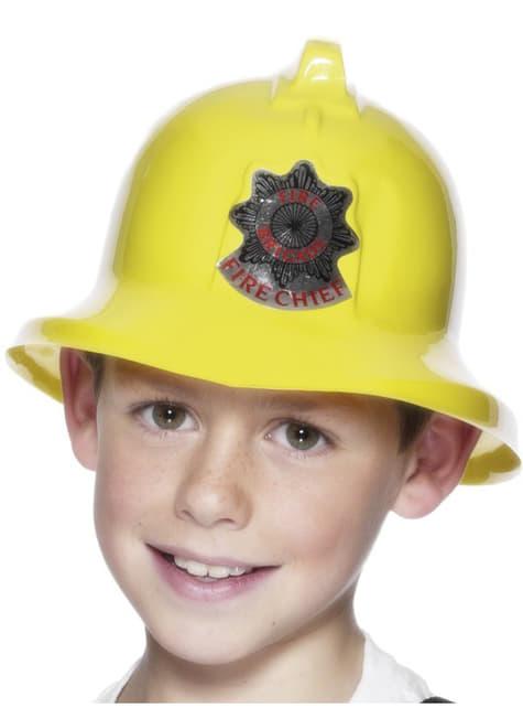 Capacete de bombeiro para menino amarelo