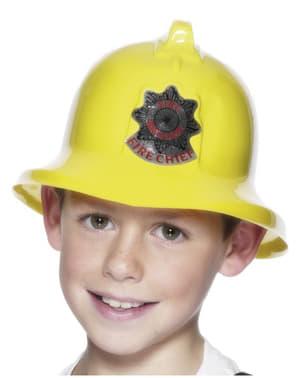 Casque de pompier jaune enfant