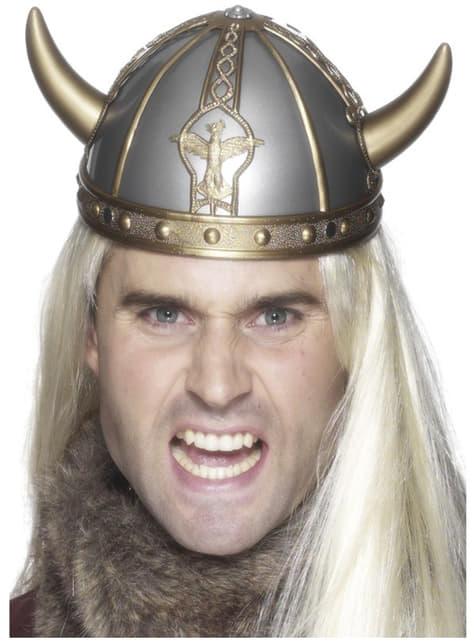 Casco de vikingo luchador