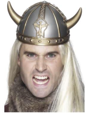 Krigande viking Hjälm