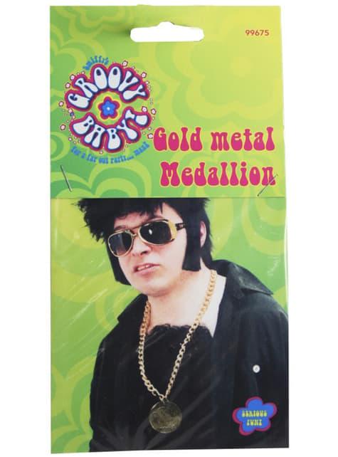 Guldfarvet medaljon