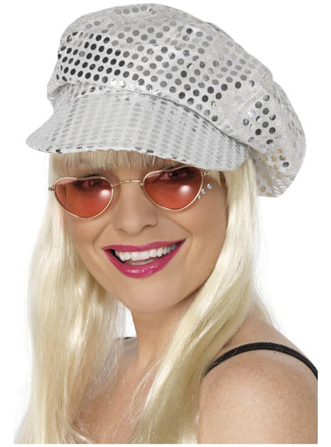 Gorra de discoteca con lentejuelas