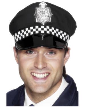 Sombrero de policía con placa