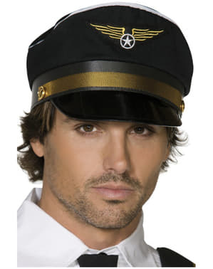 Gorra de piloto negra