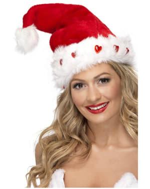Santa Mütze mit Licht