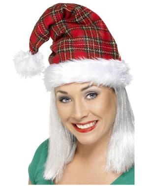 Tartan Santa Hat