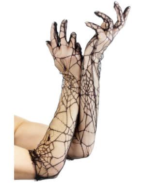 Rękawiczki długie koronkowe