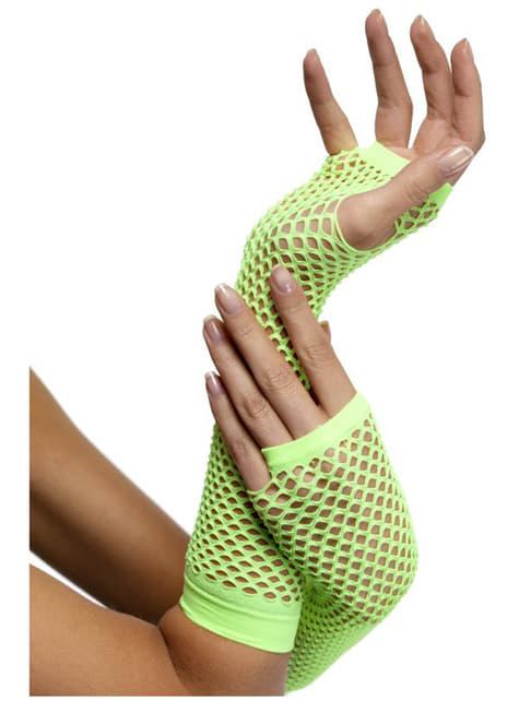 Zielone Rękawiczki Kabaretki Neon