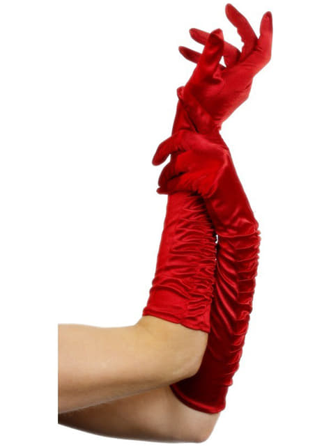 Luvas provocantes vermelhas