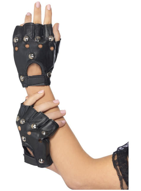 Rękawiczki punk czarne