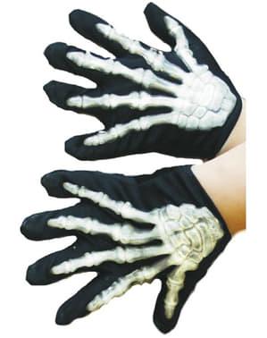 Luvas de esqueleto infantis