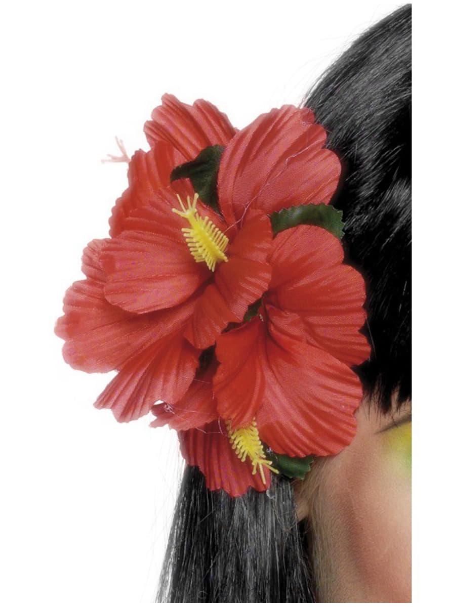 Red Hawaiian Flower Hairclip The Coolest Funidelia