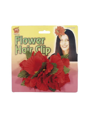 Red Hawaiian Flower Hairclip
