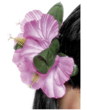 Hårspænde med hawaiiblomst pink
