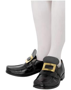 Fivela metálica do sapato
