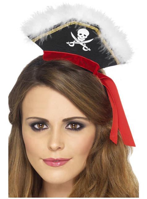 Opaska z kapeluszem pirata