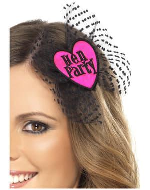 Hen Party Bow Headband with Veil
