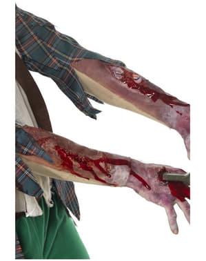 Manga de látex com efeito de ferida