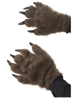 Furry Brown Monster Hands