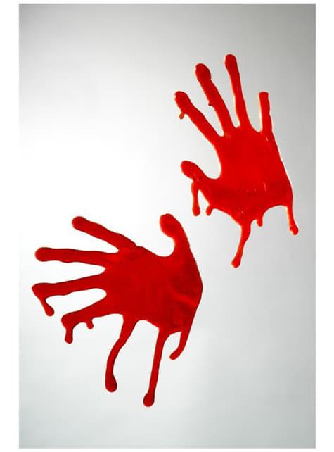 Mains horrible en sang pour décorer