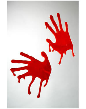 Läskiga blodiga händer för dekoration