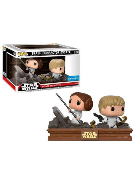 Funko POP! Luke y Leia en el Triturador de basura - Star Wars