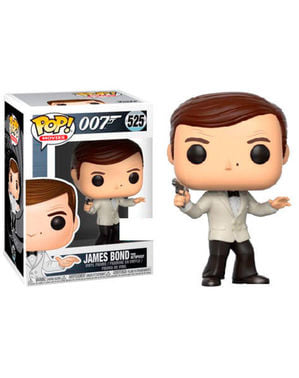 Funko POP! James Bond Roger Moore en blanc - James Bond 007