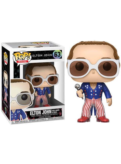 Funko POP! Elton Jhon rojo blanco y azul