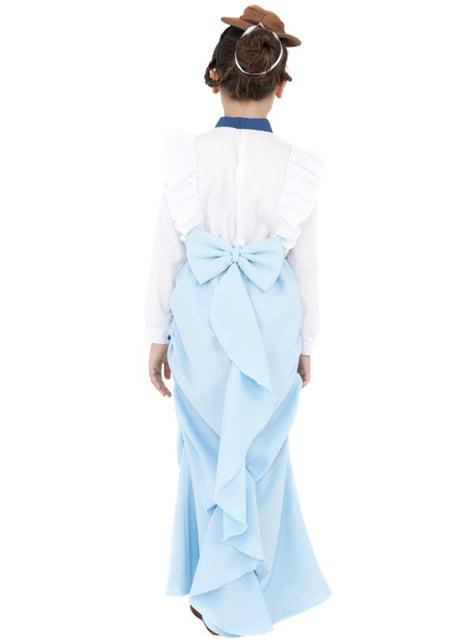 Disfraz de señorita victoriana para niña - niña