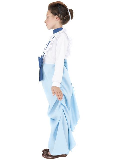 Disfraz de señorita victoriana para niña - original