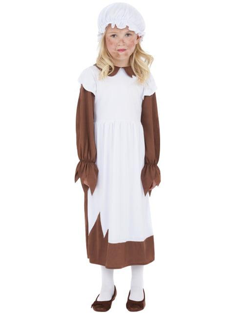 Ärmliche Viktorianerin Kostüm für Mädchen