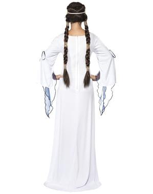 Keskiaikainen neito aikuisten asu