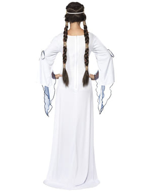 Middelalder Møy Kostyme Voksen