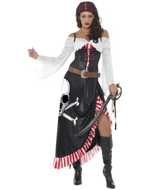 Strój intrygująca kobieta pirat