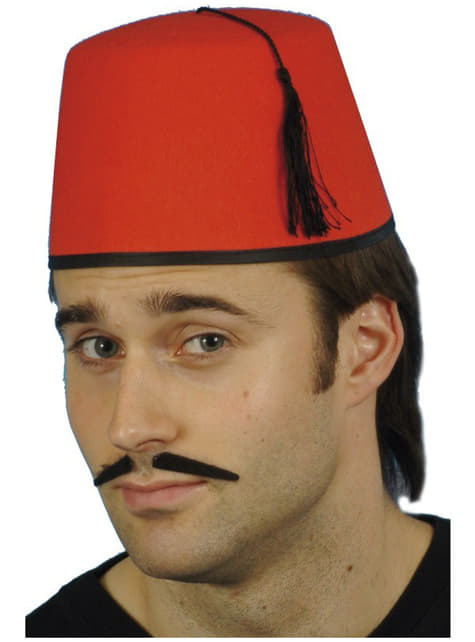 Rød Fez hatt