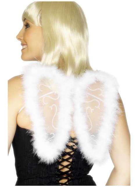 Mini alas de brillantina blancas
