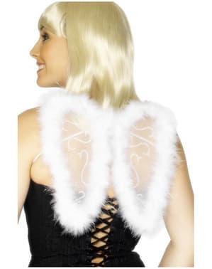 Mini asas de brilhantina brancas
