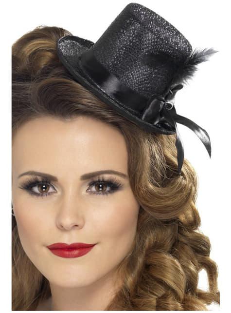 Mini kapelusik czarny