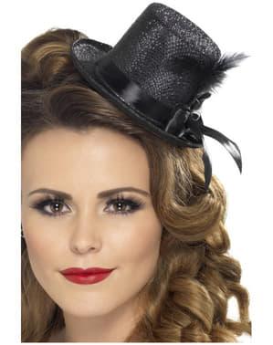 Mini klobouk černý