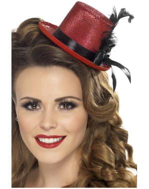 Mini cappello a cilindro rosso