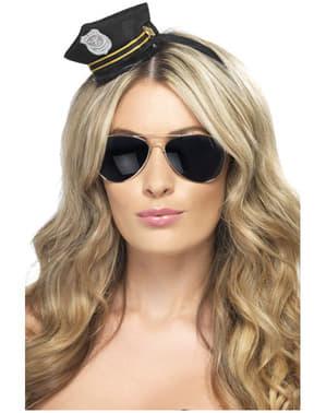 Mini gorra de policía