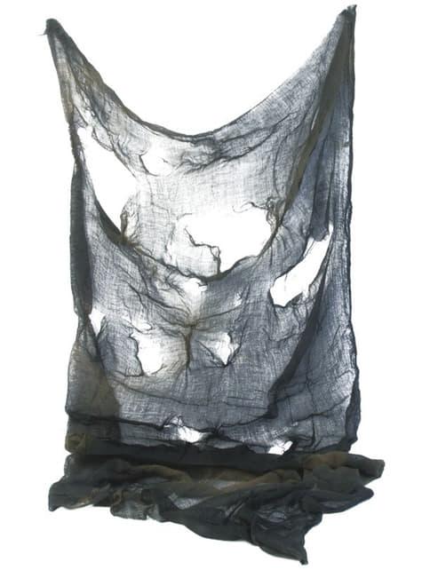グレーの引き裂かれたスカーフ