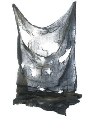 Fular gris rasgado