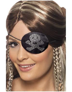 Piraat Ooglapje met Imitatiediamant