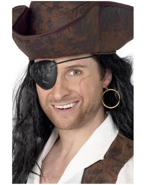 Pirátská páska přes oko + náušnice