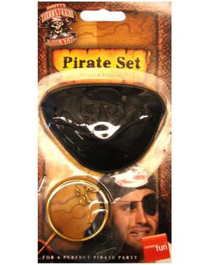 Opaska na oko dla pirata i kolczyk