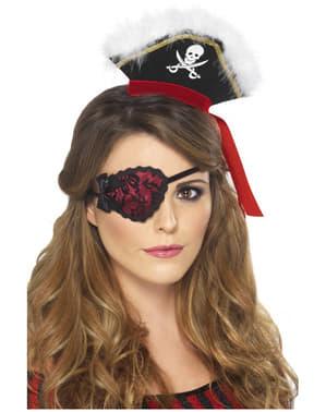 Cache-œil pirate rouge